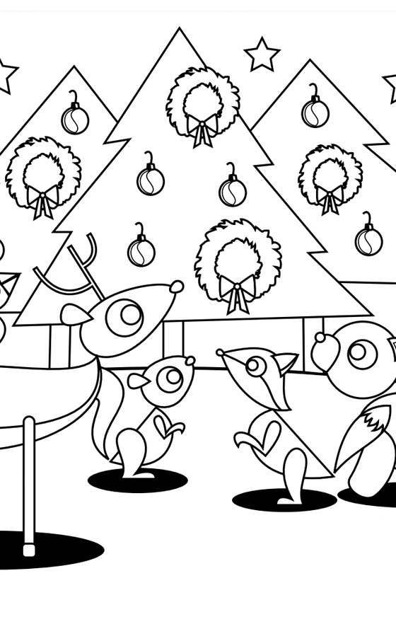 Happy Holiday Coloring Page