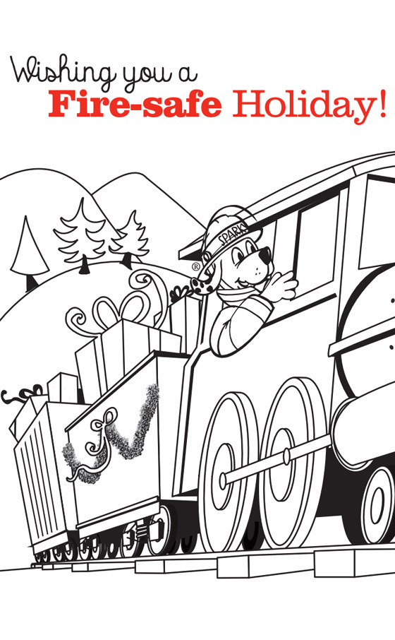 Holiday Train Coloring Page
