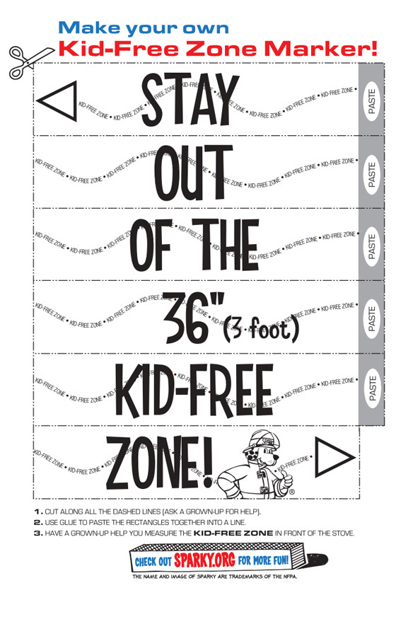 Kid Free Zone Marker