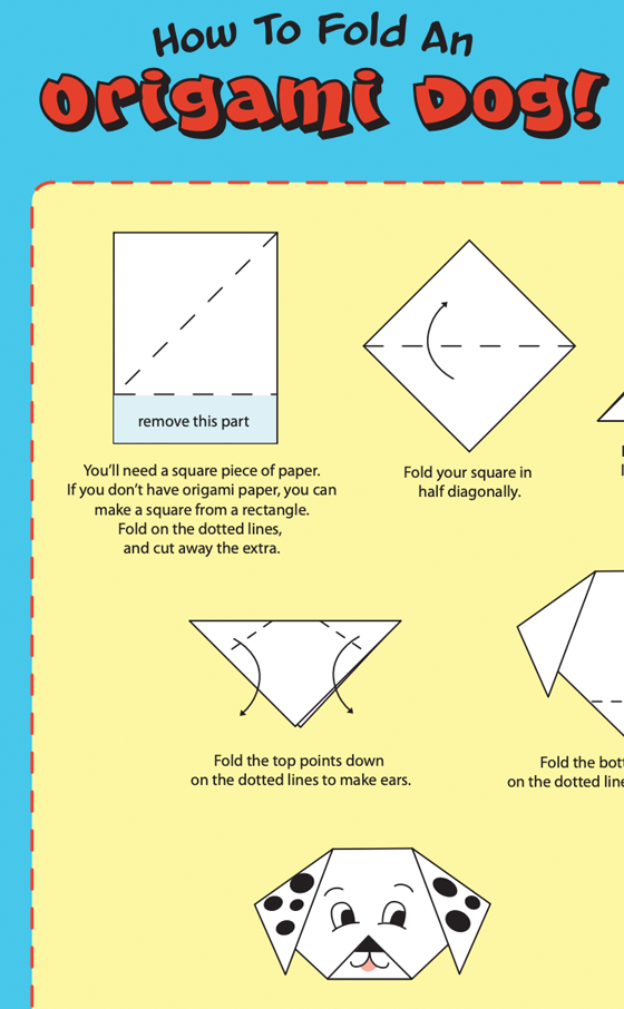 How to Fold an Origami Dog