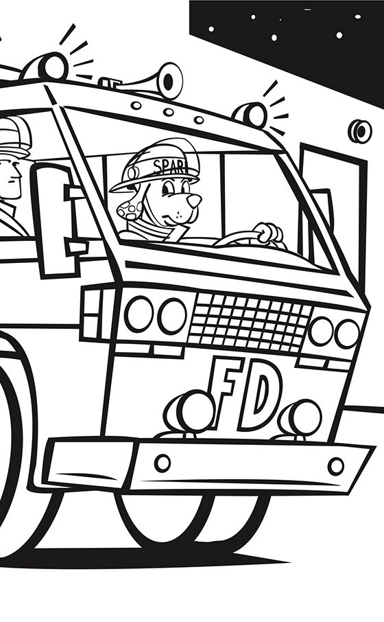 Firetruck Coloring Page